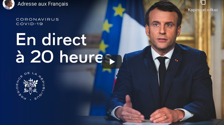Photo de Emmanuel Macron en direct à 20h